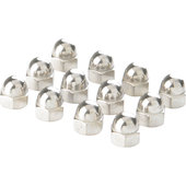 CAP NUTS STAINLESS STEEL IMPERIAL UNF 12-PCS
