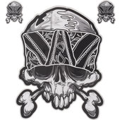 BANDANA SKULL STICKER