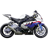 BMW S 1000 RR WHITE/BLUE SCALE 1:12