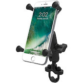 Handlebar mount with X-Grip & centre connecting link for smartphones