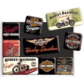 LOT DE 9 AIMANTS *HARLEY-