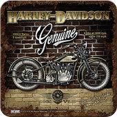 Harley Davidson Untersetzer V-Twins Maße: 9 x 9 cm, per Stück