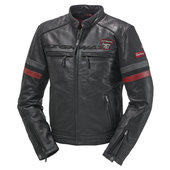 HIGHWAY 1 SPORTS II LEDERJACKE, SCHWARZ/ROT