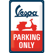 Blechschild Vespa Logo