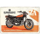 Blechschild Kawasaki Logo Maße: 30x20cm