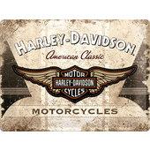 Blechschild Harley-Davidson metallic, 30x40cm