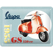 Metal Sign Vespa Logo Size: 15x20cm