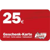 CARTE CADEAU DE 25 EUR