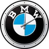 Retro Wanduhr BMW Logo