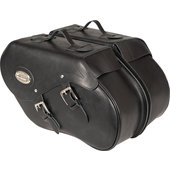 Saddlebags, real leather with Klickfix, 34 litres