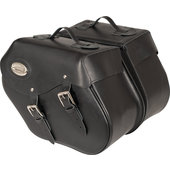 Saddlebags, real leather with Klickfix, 38 litres