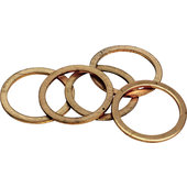 Copper ring set for oil drain plugs, set of 5
