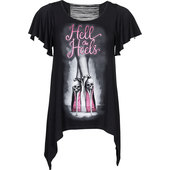 LETHAL ANGEL LADIES SHIRT HELL ON HEELS