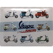 Plaque en métal Vespa logo Dimension: 40 x 30 cm
