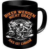 RAHMENLOS MUG *BIKERS DON'T GO GREY* 0.33L