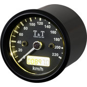 T&T Electronic Speedometer 48 mm, -220 km/h, black