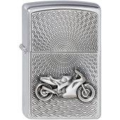 Original Zippo Motorrad chrom gebürstet