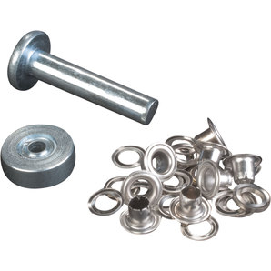 Grommets 4 mm with Washer Silver