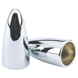 Cone valve caps chrome