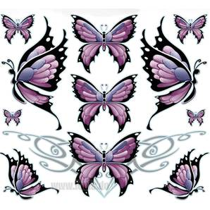 "Set di adesivi ""Butterfly Sheet"""