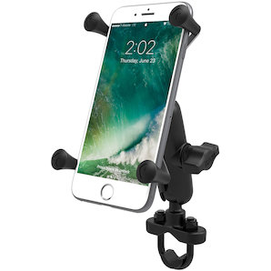 Handlebar mount with X-Grip