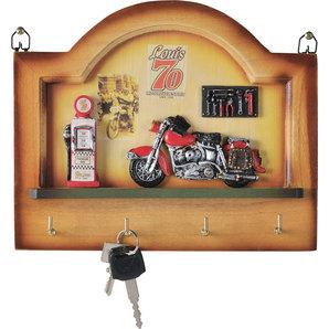 schluesselbrett aus holz 4 haken 24x20x4cm louis motorrad freizeit. Black Bedroom Furniture Sets. Home Design Ideas