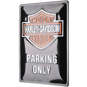 blechschild harley davidson parking only ma e 30x40cm. Black Bedroom Furniture Sets. Home Design Ideas