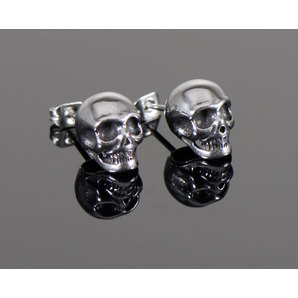 "Ear Studs/Earrings ""Skull"""