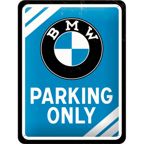 "Blechschild BMW ""Parking Only"""