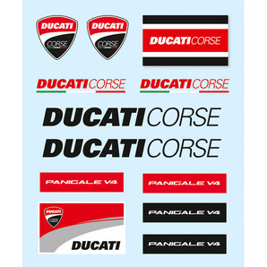 Ducati Sticker Set 12 Pieces