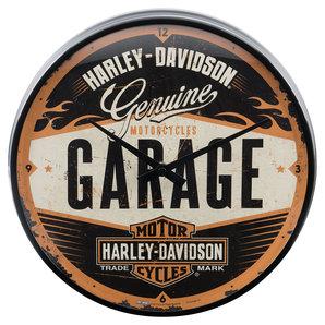 buy wallclock harley davidson garage louis motorcycle. Black Bedroom Furniture Sets. Home Design Ideas