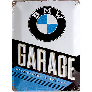 "Targa metallica BMW ""Garage"""