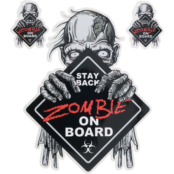 DECAL ZOMBIE ON BOARD