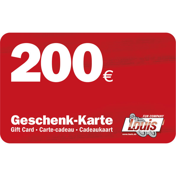 200,- EURO GESCHENKKARTE