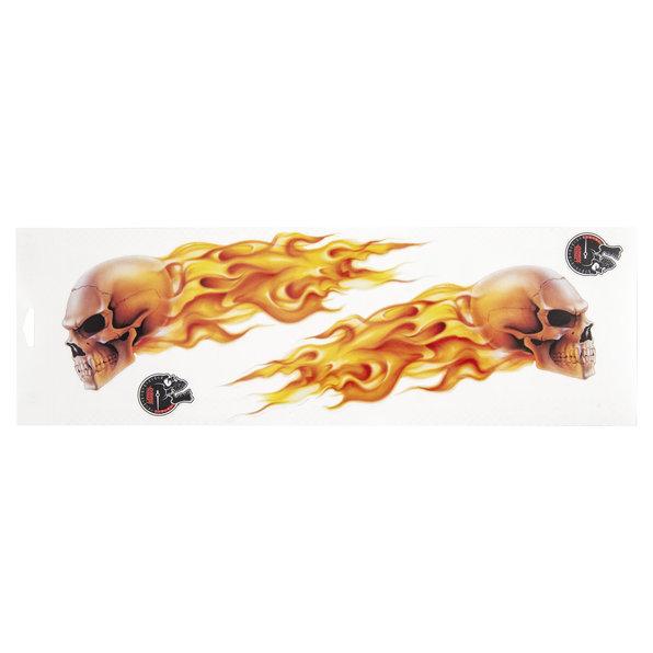 AUFKLEBER FLAME SKULLS