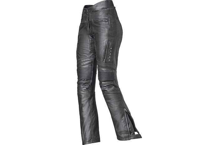 Schwarz 56 Roleff Racewear Lederhose mit seitlicher Schnürung