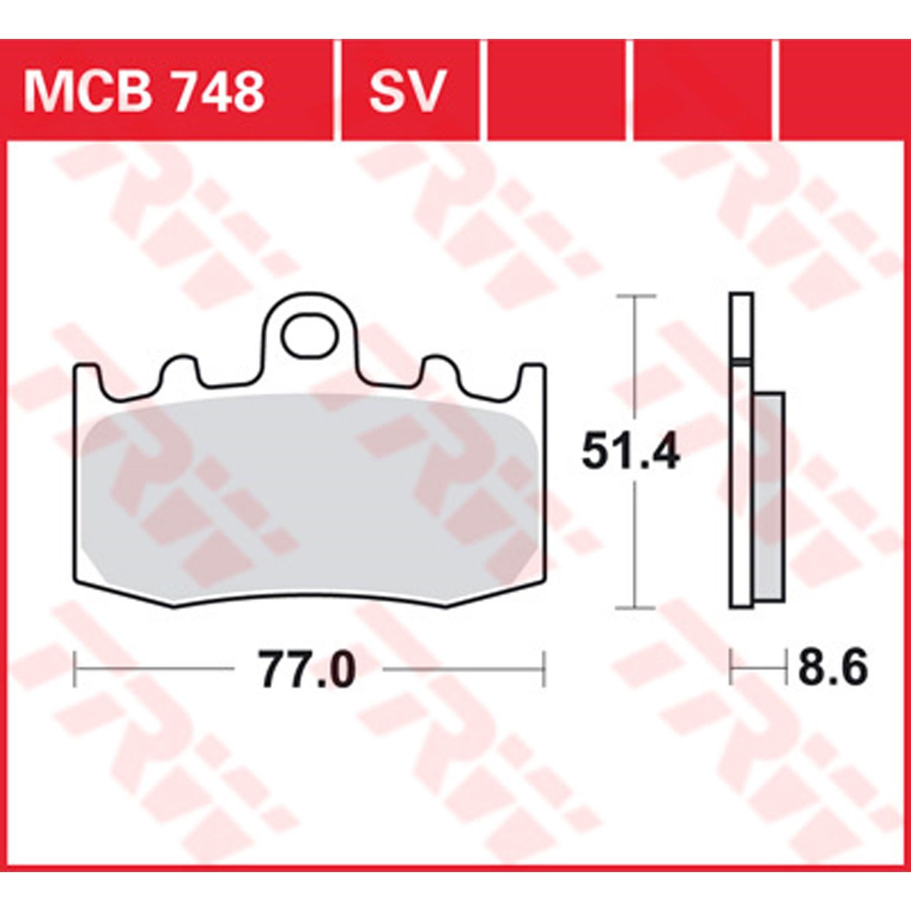 TRW Lucas Bremsbeläge MCB680 vorne BMW K 100 RS4V ABS
