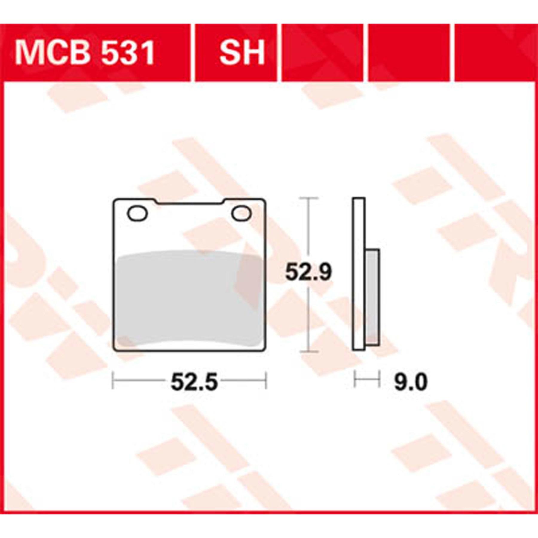 TRW Lucas Bremsbeläge MCB531 hinten Kawasaki ZRX 1200 C