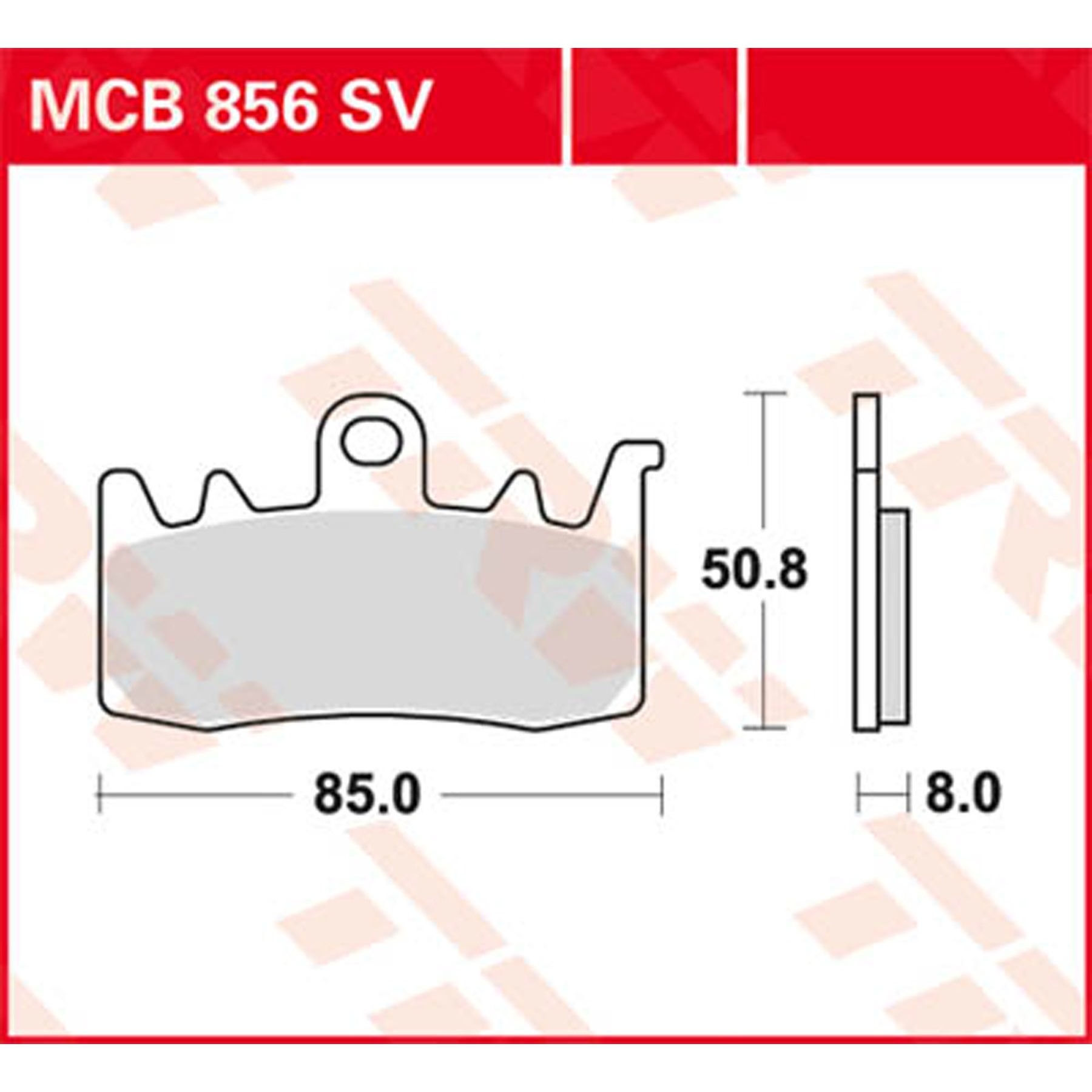 TRW Automotive AfterMarket MCB672RSI Bremsbelag f/ür Motorr/äder