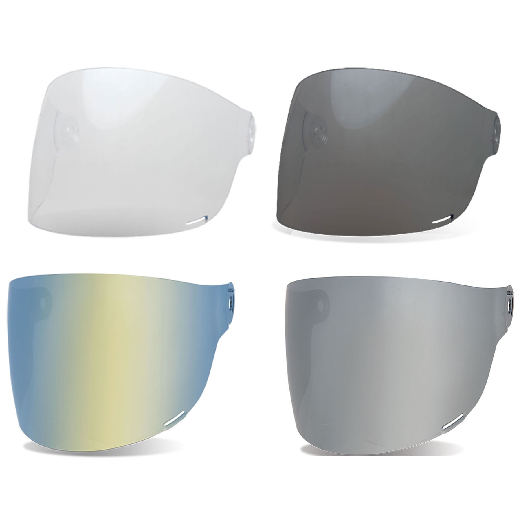 SILVER IRIDIUM Bell Bullitt Flat Face Shield