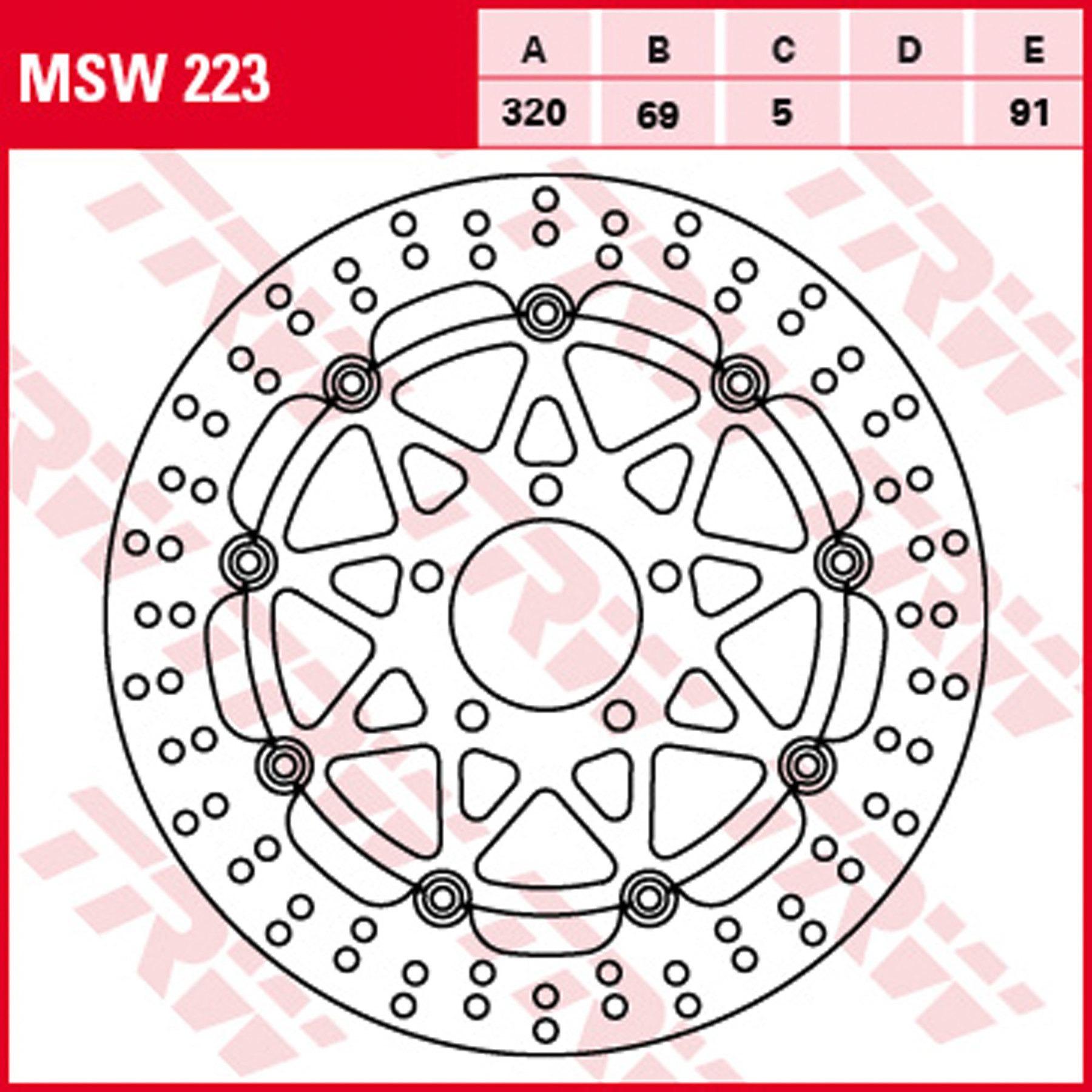 TRW Bremsscheibe vorn MSW248 mit ABE