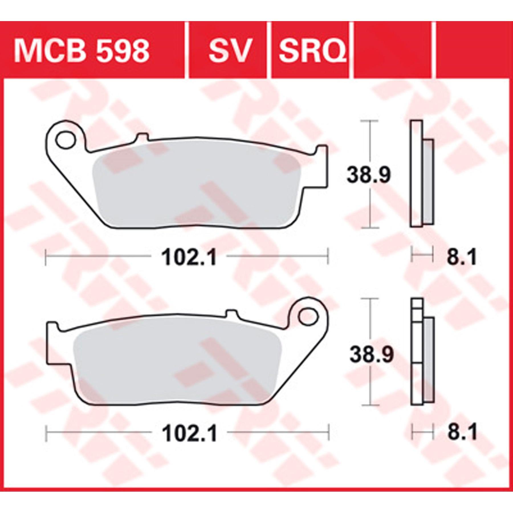 TRW//Lucas Scheibenbremsbeläge MCB 729 LF mit ABE