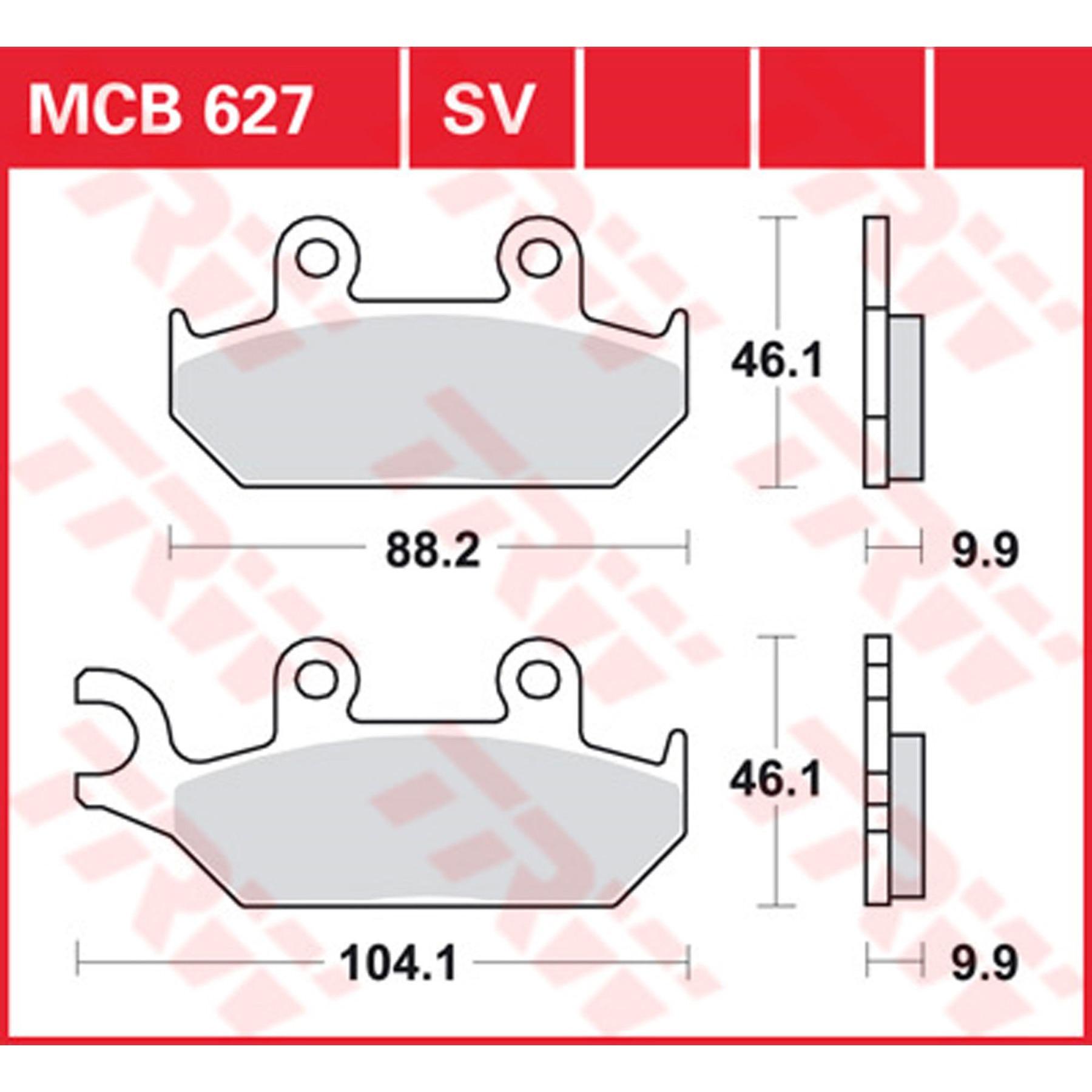 TRW MCB524 Plaquette de Frein