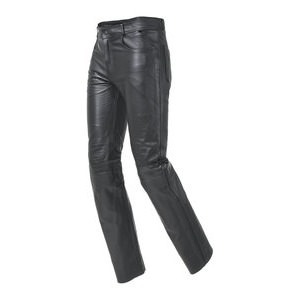 Water-Repellent Leather Jeans