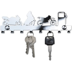 """Motorcycle"" Key Rack, 8 Hooks"