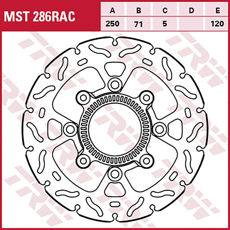 TRW Lucas MST331 Bremsscheibe Starr