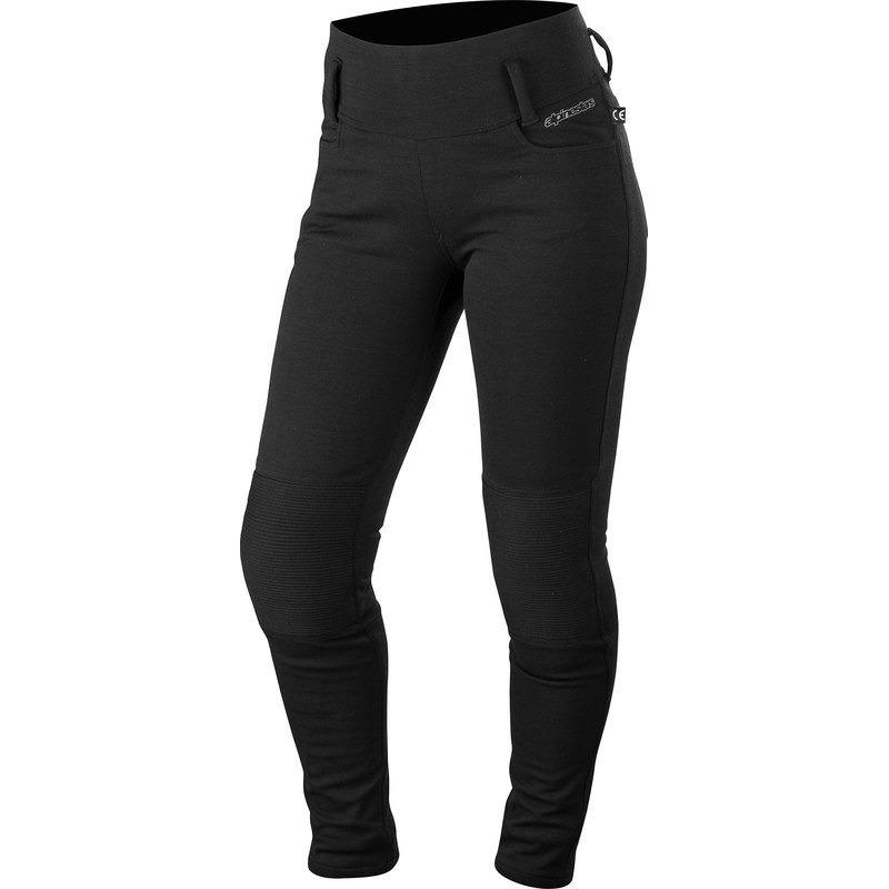 Motorrad Jeans Banshee Damen Leggings Schwarz Alpinestars
