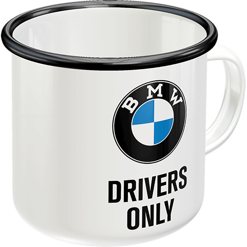 EMAILLE BECHER BMW DRIVER