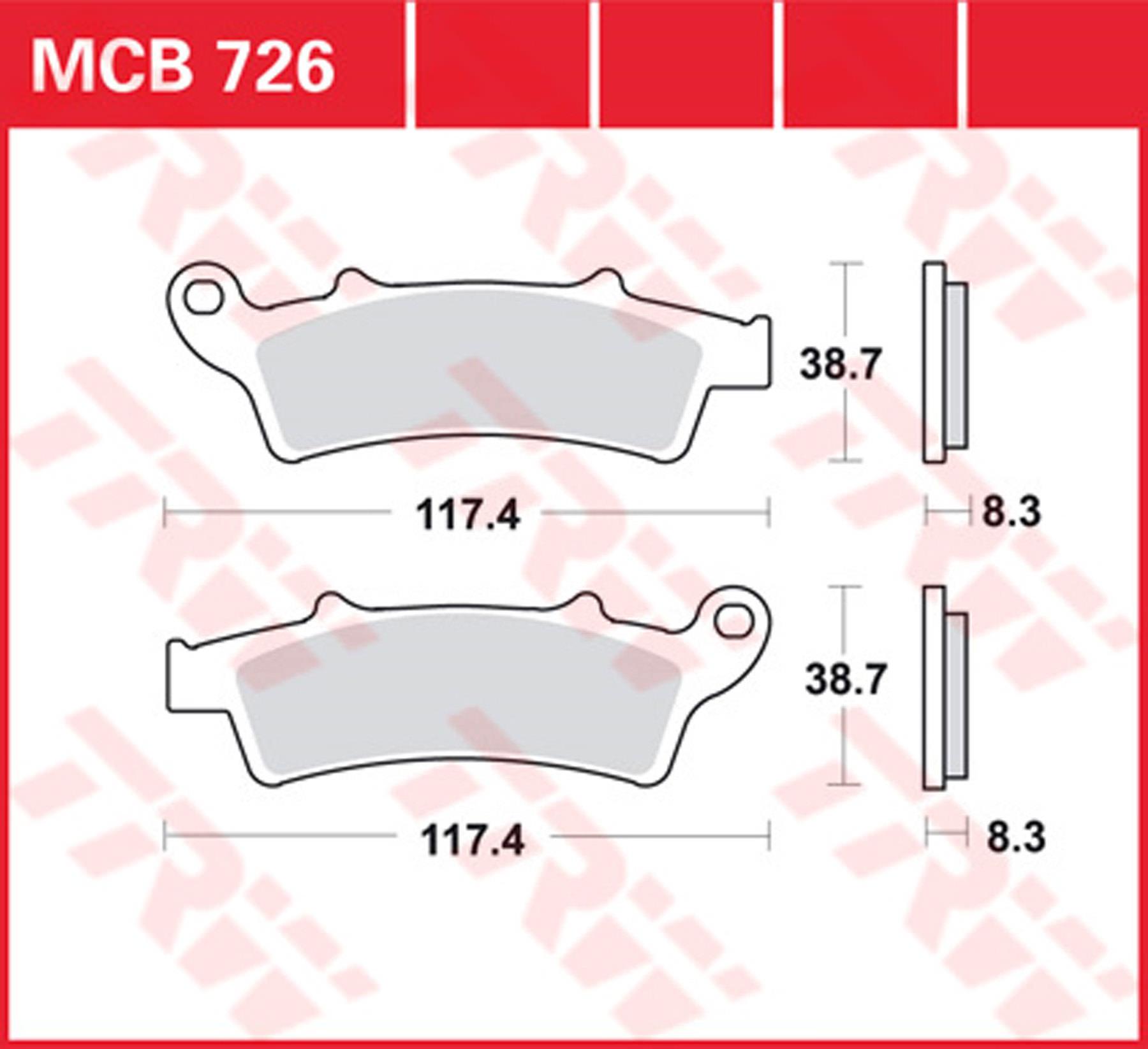 TRW MCB726SRM Pastiglia Freno