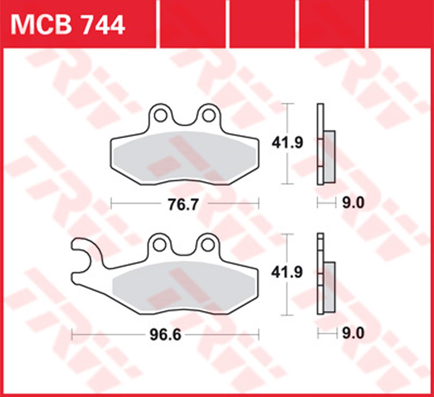 hinten ABS K14/00 06/ Lucas Bremsbel/äge TRW MCB 672/F/ür BMW F 650/CS Scarver